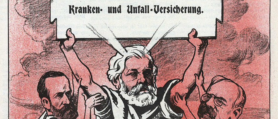 Caricature of Federal Councillor Ludwig Forrer as Moses, source: Nebelspalter, 03.02.1912, used with the consent of the Nebelspalter publisher, Horn.